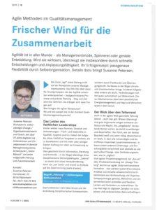 Susann Petersen: Agile Methoden im QM_Der Qualitätsmanager_01.2020