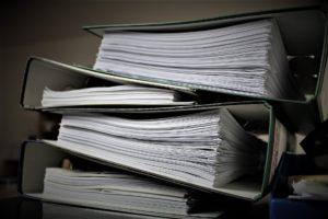 Vorgabedokumente in rauhen Mengen
